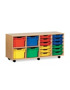 12 Shallow and 4 Extra Deep Combi Tray Storage Unit