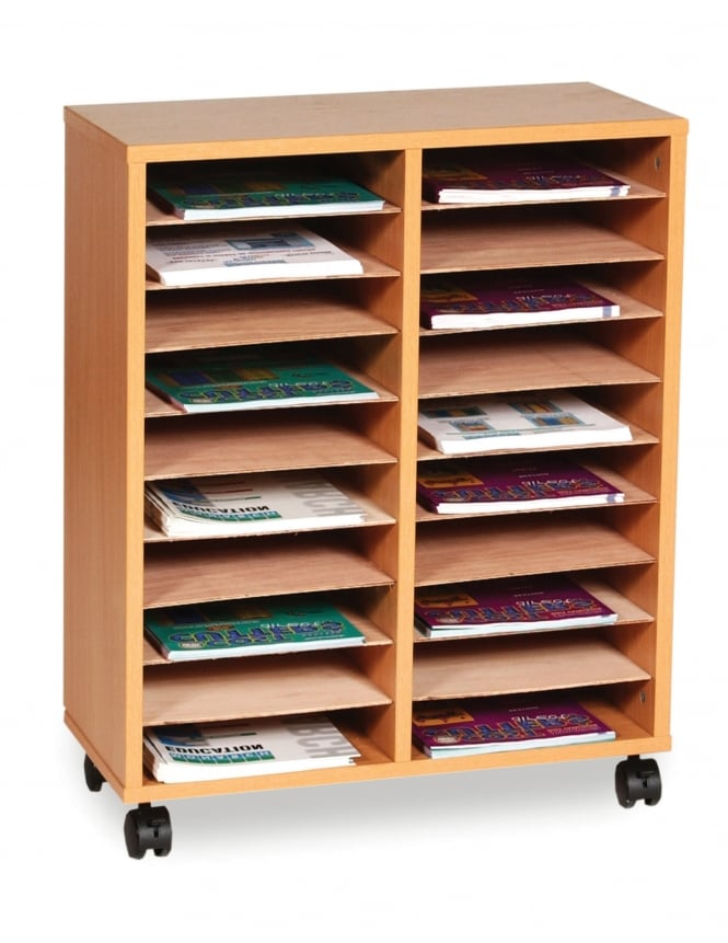 Monarch Furniture 20 Shelf Literature Sorter