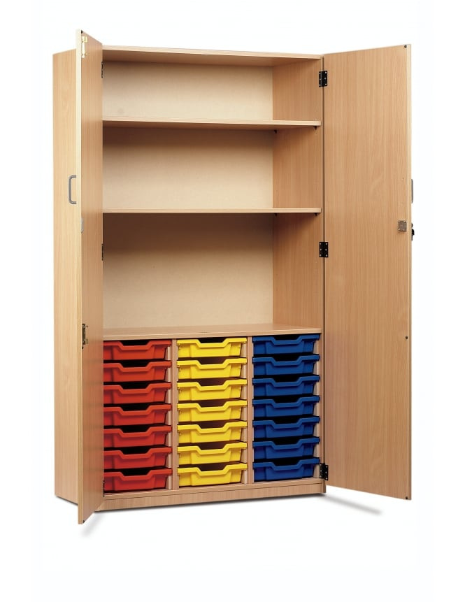 Monarch Furniture 21 Shallow Tray Storage Cupboard