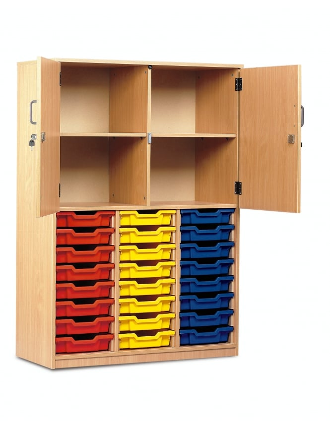 Monarch Furniture 24 Shallow Tray Storage Cupboard