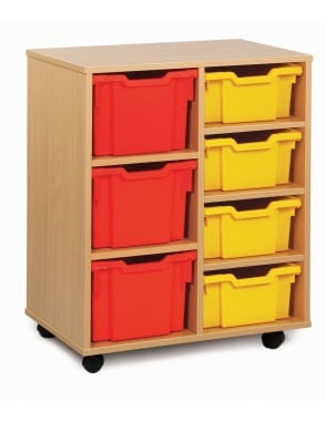 4 Deep and 3 Extra Deep Tray Storage Unit