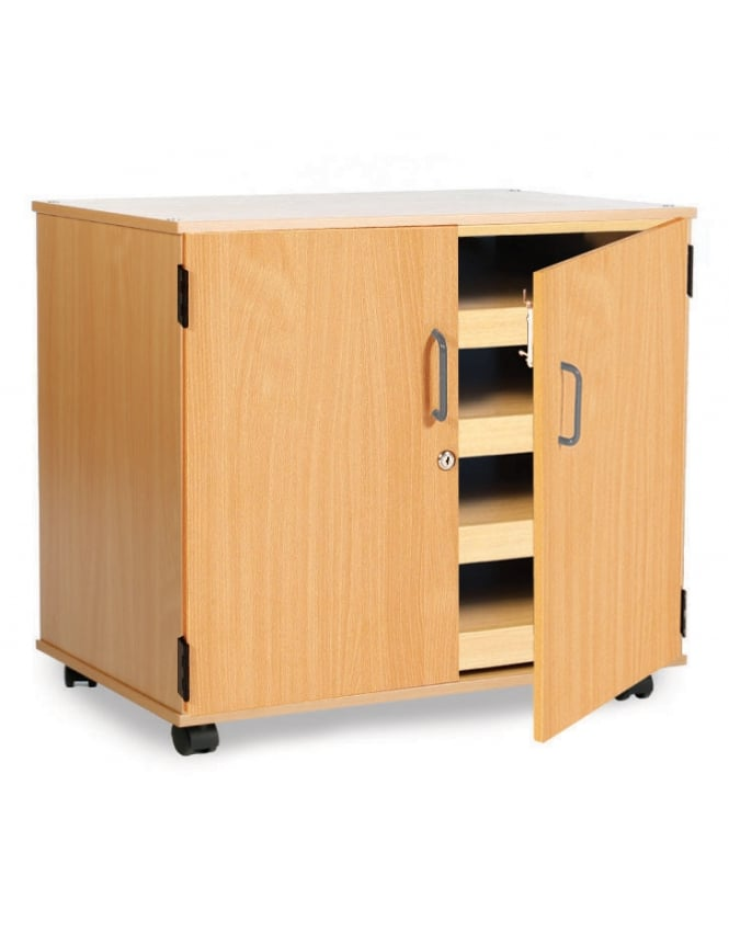 Monarch Furniture 4 Sliding Drawer A1 Paper Storage with Doors