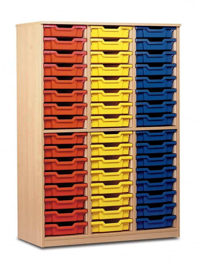Monarch Furniture 48 Shallow Tray Storage Cupboard
