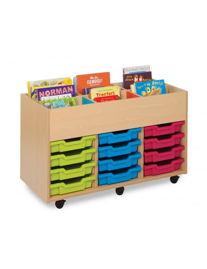 Monarch Furniture 6 Bay Kinderbox with 12 Shallow Trays