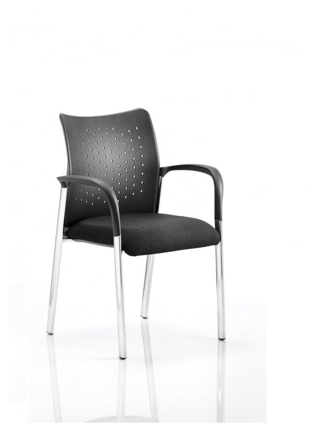 Dynamic Furniture Academy Visitor Black Chair