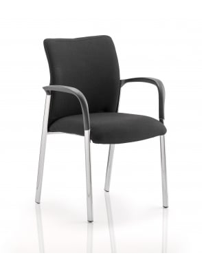 Academy Visitor Black Fabric Back Chair