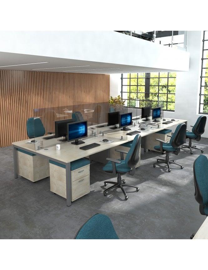 Dams Acrylic Desk Mounted High Screens