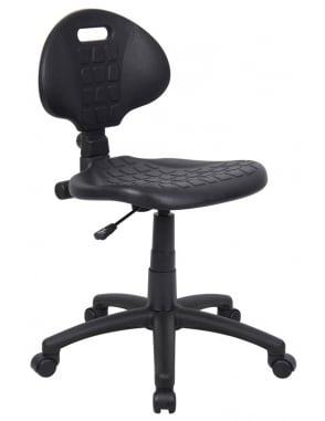 Adjustable Black Workchair with Castors