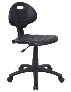 Adjustable Black Workchair with Castors