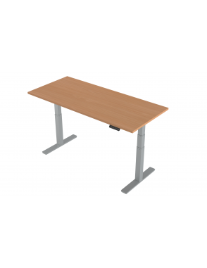 Air Height Adjustable Standing Desk With Silver Legs