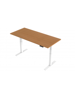 Air Height Adjustable Standing Desk with White Legs