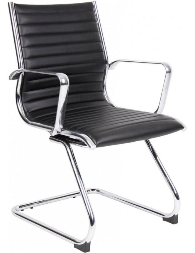 Dams Bari Leather Faced Visitors Chair