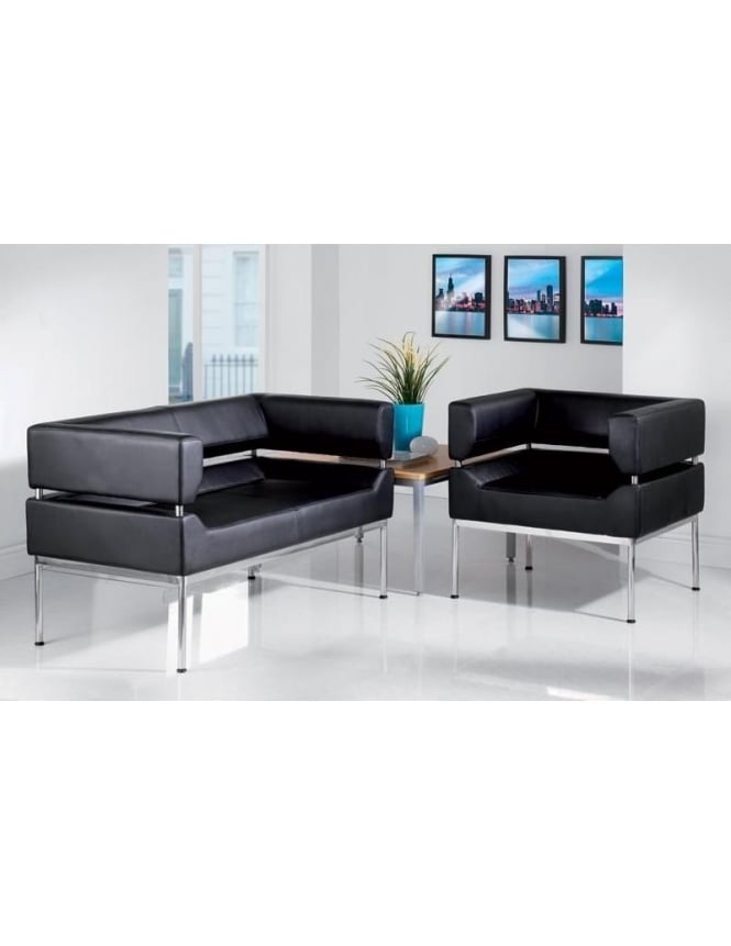 Dams Benotto Faux Leather Reception 3 Seater Sofa