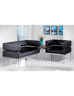 Benotto Faux Leather Reception 3 Seater Sofa