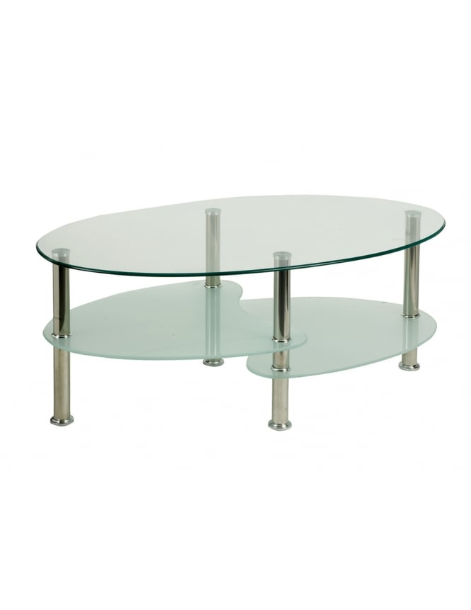 Dynamic Furniture Berlin Coffee Table With Chrome Legs