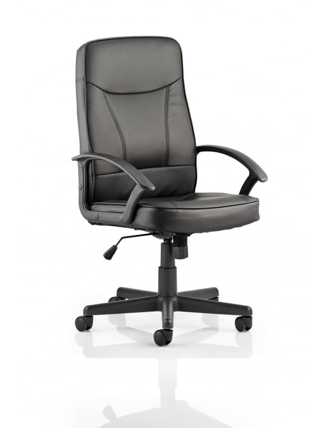 Dynamic Furniture Blitz Executive Black Bonded Leather Chair