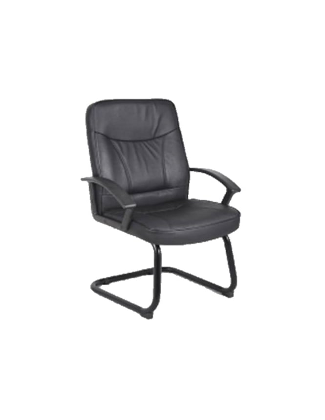 Dynamic Furniture Blitz Visitor Cantilever Black Bonded Leather Chair