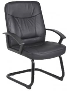 Blitz Visitor Cantilever Black Bonded Leather Chair
