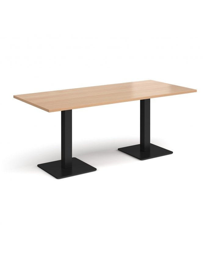Dams Brescia Rectangular Dining Table with Flat Square Bases