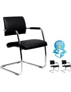 Bruge Soft Leather Faced Meeting Chair