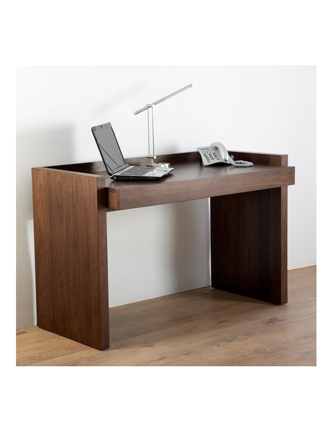 Alphason Campbell Walnut Veneer Home Office Desk
