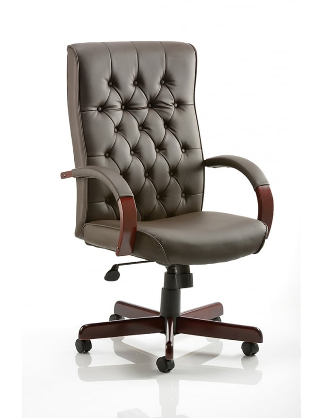 Dynamic Furniture Chesterfield Executive Leather Chair