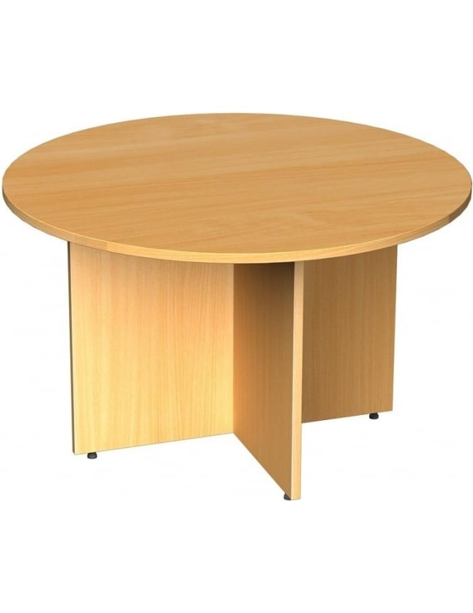 Dams Circular Boardroom Table Arrow Head Leg Design