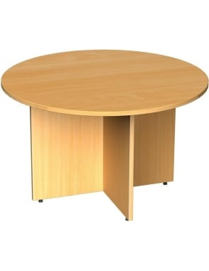 Circular Boardroom Table Arrow Head Leg Design