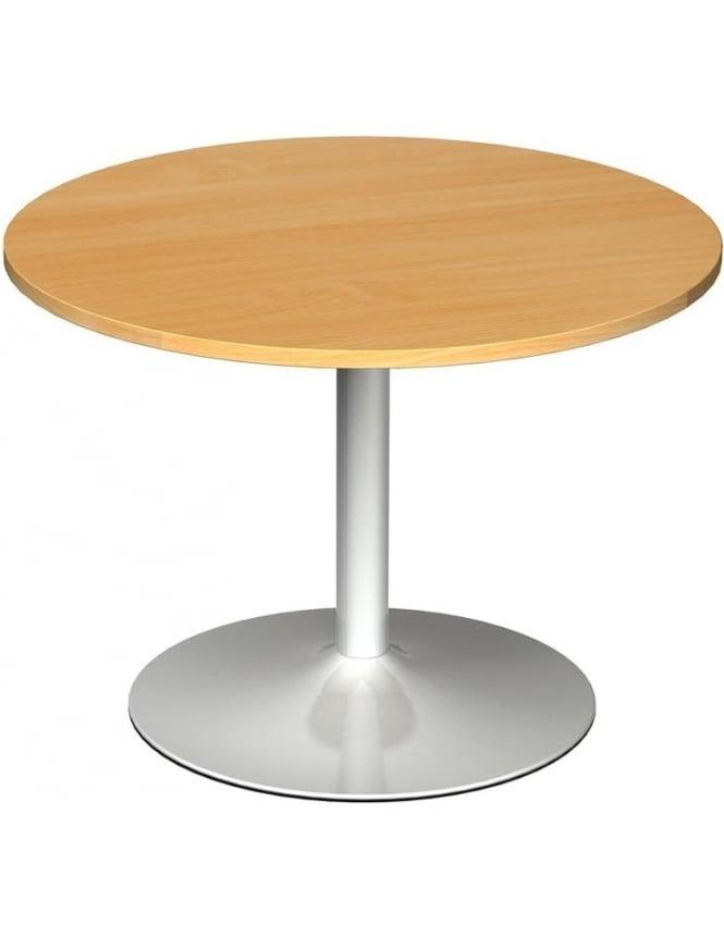 Dams Circular Boardroom Table Trumpet Base