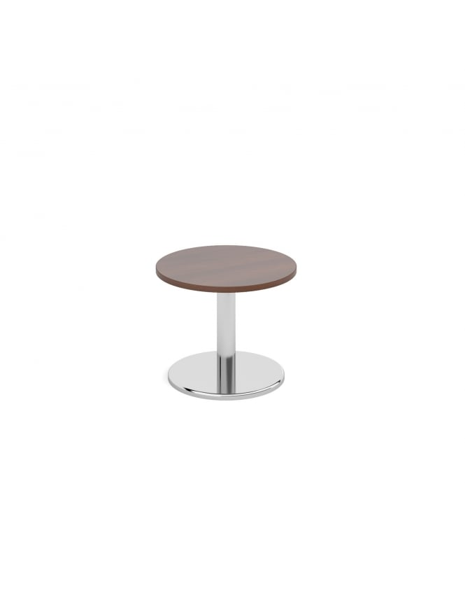 Dams Circular Coffee Table with Round Chrome Base 600mm