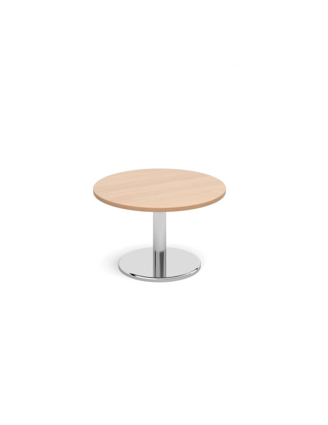 Dams Circular Coffee Table with Round Chrome Base 800mm