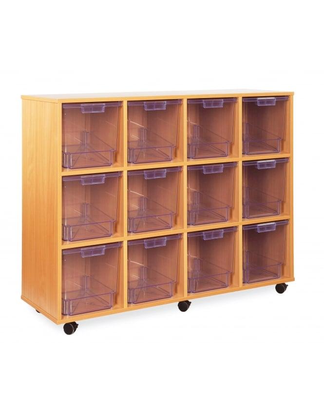 Monarch Furniture Clear Jumbo Tray Storage Unit