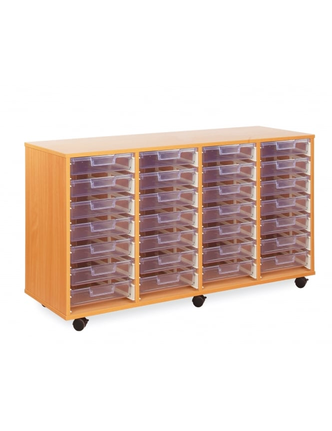 Monarch Furniture Clear Shallow Tray Storage Unit