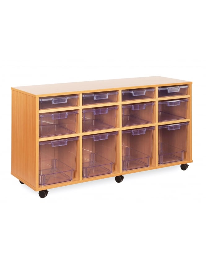 Monarch Furniture Clear Variety Tray Storage Unit
