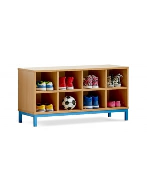 Cloakroom Bench with Open Compartments