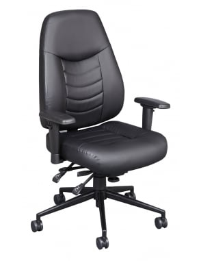 Cougar Executive Leather High Back Chair - Black
