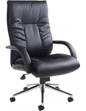 Derby Leather Faced Executive Chair