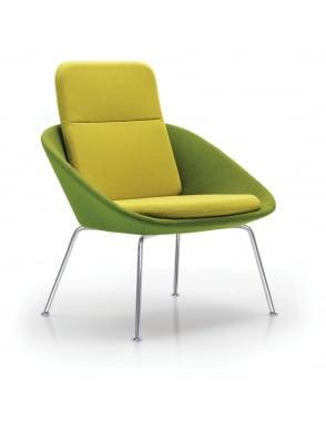 Dishy High Back 4 Legged Frame Chair