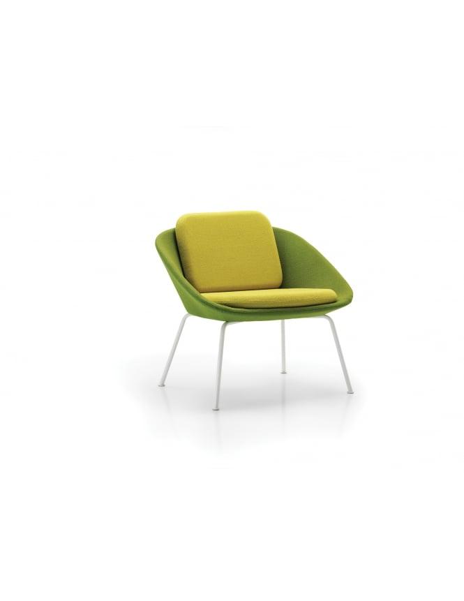 Woodstock Leabank Dishy Low Back 4 Legged Frame Chair