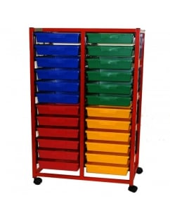 Double Column 12 Level Classroom Trolley