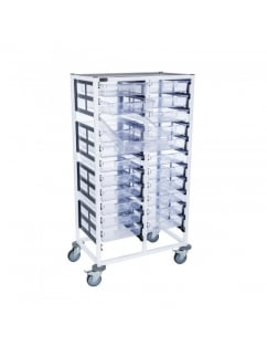 Double Column 12 Level Medical Trolley