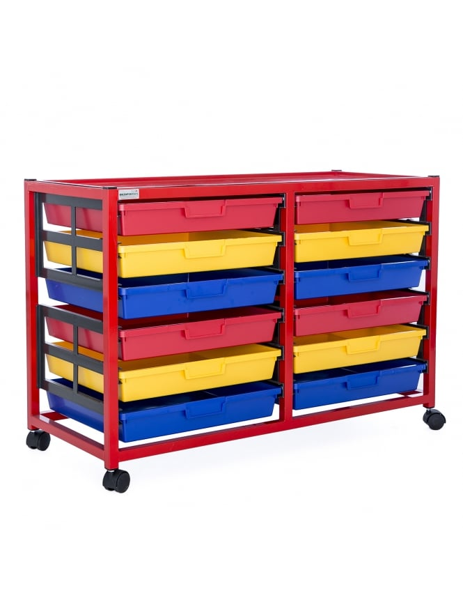 WPF Double Column 6 Level Classroom Trolley
