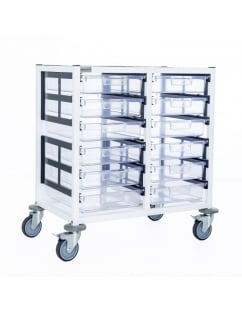 Double Column 6 Level Medical Trolley