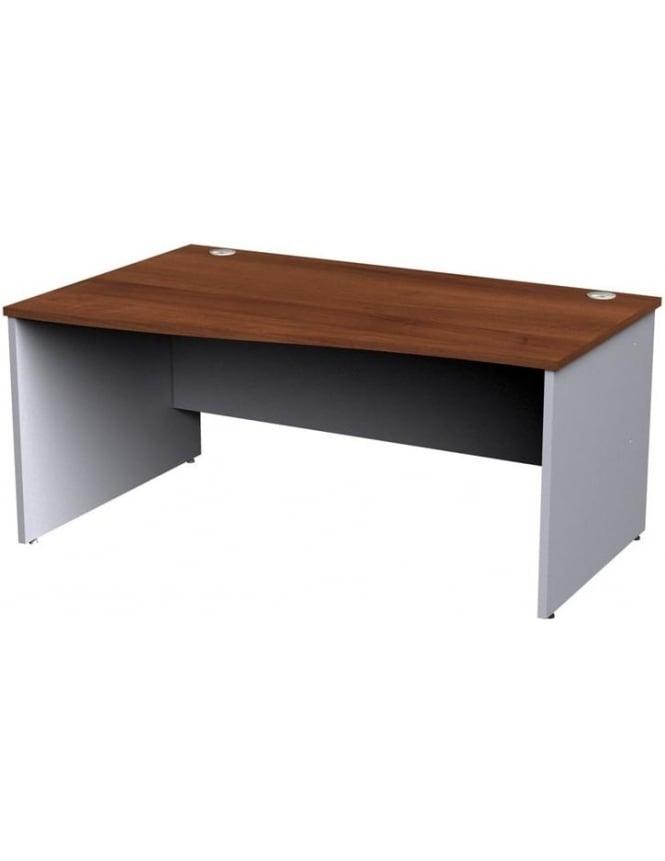 Dams Duo Left Hand Wave Panel Desk
