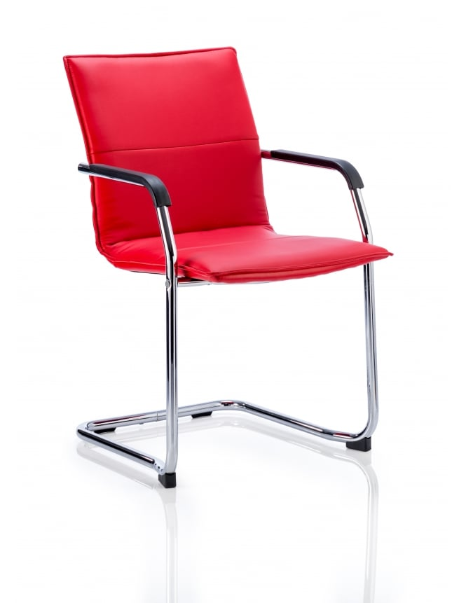 Dynamic Furniture Echo Visitor Cantilever Bonded Leather Chair