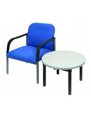 Enviro Black Frame Round Coffee Table 600mm