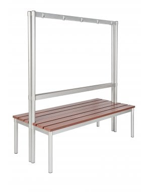 Enviro Changing Room Bench 1600mm with 7 Hooks