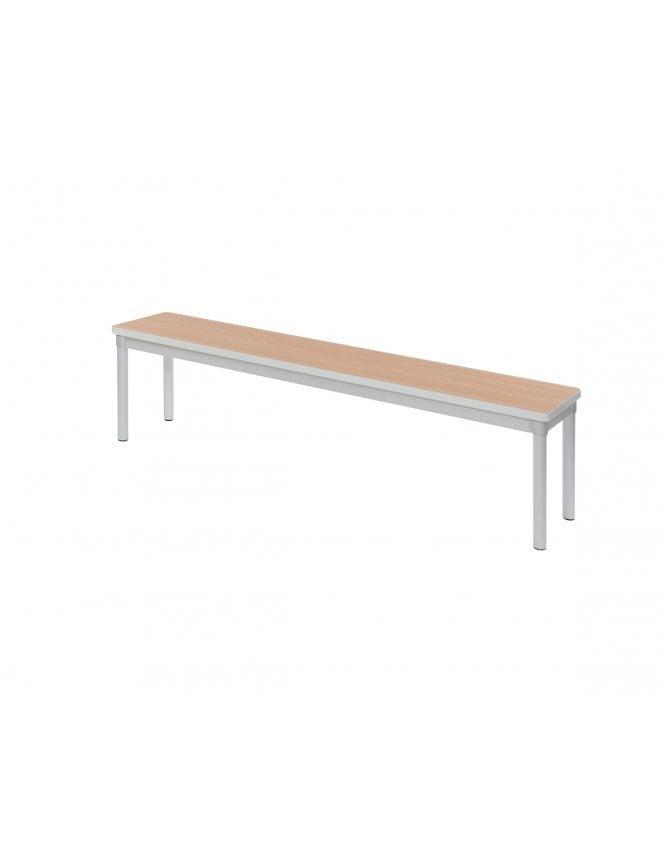 Gopak Enviro Silver Frame Dining Bench 1600 x 330mm