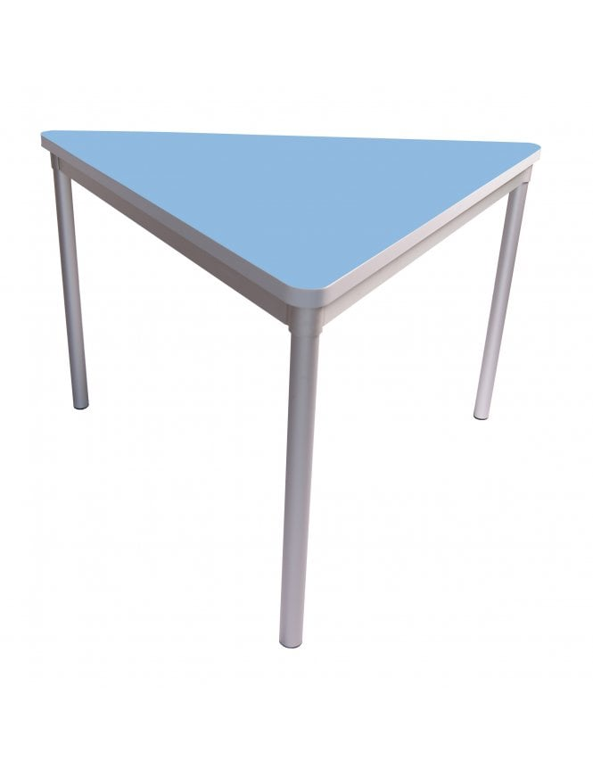 Gopak Enviro Silver Frame Dining Table 1200mm Triangle with Castor