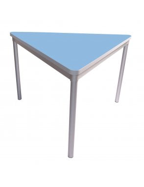 Enviro Silver Frame Dining Table 1200mm Triangle with Castor